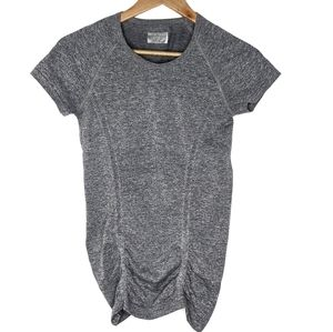 Athleta Fastest Track Tee Ruched Gathered Top H9